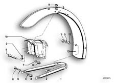 Goto diagram: BMW Classic Motorbike Model R 100 S( ECE ), Category 46.25 Mudguard front :: Diagram: 46_0076