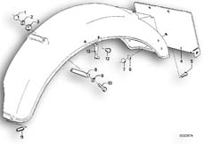 Goto diagram: BMW Classic Motorbike Model R 75 /7( ECE ), Category 46.30 Wheel cover, rear, mounting parts :: Diagram: 46_0077