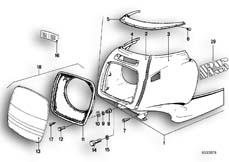 Goto diagram: BMW Classic Motorbike Model R 100 RS( USA ), Category 46.40 Trim panel, upper part :: Diagram: 46_0083
