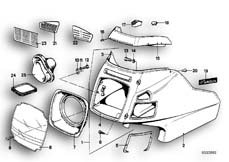 Goto diagram: BMW Classic Motorbike Model R 80 RT( USA ), Category 46.40 Trim panel, upper part :: Diagram: 46_0087