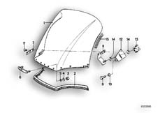 Goto diagram: BMW Classic Motorbike Model R 80 RT( ECE ), Category 46.55 Windscreen :: Diagram: 46_0091