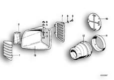 Goto diagram: BMW Classic Motorbike Model R 80 RT( ECE ), Category 46.40 TRIM PANEL AIR INLET :: Diagram: 46_0092