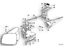 Goto diagram: BMW Classic Motorbike Model R 80 RT( ECE ), Category 46.40 Trim panel, flap :: Diagram: 46_0093