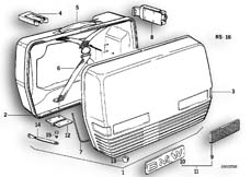 Goto diagram: BMW Classic Motorbike Model R90/6( ECE ), Category 46.20 TOURING CASE :: Diagram: 46_0101