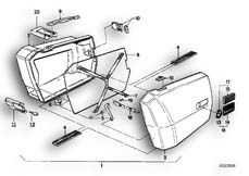 Goto diagram: BMW Classic Motorbike Model K 100 RS 83 (0502,0503,0513)( ECE ), Category 46.20 INTEGRAL CASE :: Diagram: 46_0102