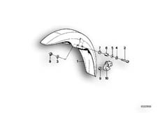 Goto diagram: BMW Classic Motorbike Model K 100 RS 83 (0502,0503,0513)( ECE ), Category 46.25 Mudguard front :: Diagram: 46_0103
