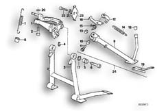Goto diagram: BMW Classic Motorbike Model K 1100 LT (0526, 0536)( ECE ), Category 46.52 Centre stand :: Diagram: 46_0114