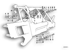 Goto diagram: BMW Classic Motorbike Model K 100 LT 87 (0506,0516)( ECE ), Category 46.35 FAIRING BRACKET :: Diagram: 46_0119
