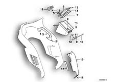 Goto diagram: BMW Classic Motorbike Model K 1100 LT (0526, 0536)( ECE ), Category 46.63 TRIM PANEL-SIDE POCKET/KNEE PADDING :: Diagram: 46_0120