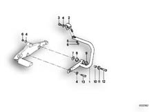 Goto diagram: BMW Classic Motorbike Model K 100 RT 84 (0504,0505,0514)( ECE ), Category 46.70 MOUNTING PARTS F REAR PROTECTION BAR :: Diagram: 46_0125