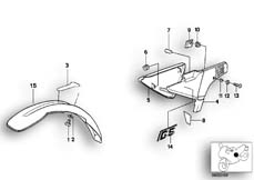 Goto diagram: BMW Classic Motorbike Model R 100 GS PD( ECE ), Category 46.25 MUDGUARD FRONT-BATTERY COVER :: Diagram: 46_0166