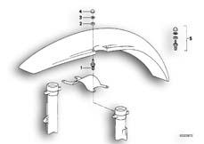 Goto diagram: BMW Classic Motorbike Model R 100 GS( ECE ), Category 46.25 FRONT LOW MUDGUARD MOUNTING :: Diagram: 46_0175