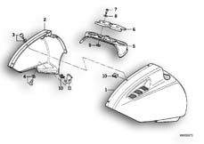 Goto diagram: BMW Classic Motorrad Modell K 1 (0525,0535)( ECE ), Category 46.25 Mudguard front :: Diagram: 46_0176