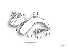 Goto diagram: BMW Classic Motorbike Model R 100 GS PD( ECE ), Category 46.25 MUDGUARD FRONT-EXTENDED :: Diagram: 46_0178