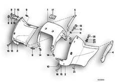 Goto diagram: BMW Classic Motorbike Model R 100 GS PD( ECE ), Category 46.45 Instrument carrier, facelift :: Diagram: 46_0184