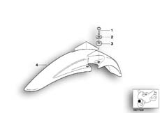 Goto diagram: BMW Classic Motorbike Model R 100 GS PD( ECE ), Category 46.25 LOW FRONT MUDGUARD MOUNTING PARTS :: Diagram: 46_0191