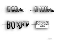Goto diagram: BMW Classic Motorrad Modell R 80 R 91( ECE ), Category 46.75 Sticker :: Diagram: 46_0199