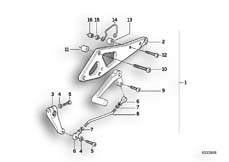 Goto diagram: BMW Classic Motorrad Modell K 100 RS 83 (0502,0503,0513)( USA ), Category 46.65 SUPPLEMENTARY SET FOOTPEG :: Diagram: 46_0201