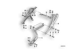 Goto diagram: BMW Classic Motorbike Model K 1100 LT (0526, 0536)( ECE ), Category 46.54 SET CASE HOLDER :: Diagram: 46_0211