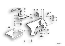 Goto diagram: BMW Classic Motorbike Model K 1100 LT (0526, 0536)( ECE ), Category 46.63 Fairing side section :: Diagram: 46_0218