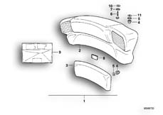 Goto diagram: BMW Classic Motorbike Model K 1100 LT (0526, 0536)( ECE ), Category 46.63 Backrest :: Diagram: 46_0235
