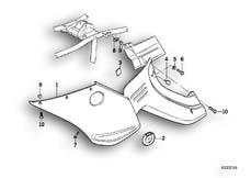 Goto diagram: BMW Classic Motorbike Model R 1100 RS 93 (0411,0416)( ECE ), Category 46.63 Fairing side section :: Diagram: 46_0250
