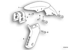 Goto diagram: BMW Classic Motorbike Model F 650 97 (0162)( ECE ), Category 46.61 Front-wheel cover :: Diagram: 46_0264