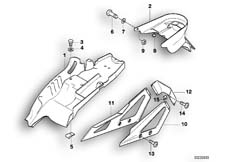 Goto diagram: BMW Classic Motorbike Model F 650 ST 97 (0163,0168)( ECE ), Category 46.62 Rear-wheel cover :: Diagram: 46_0265