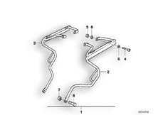 Goto diagram: BMW Classic Motorbike Model F 650 97 (0162)( ECE ), Category 46.54 CASE HOLDER/MOUNTING PARTS :: Diagram: 46_0276