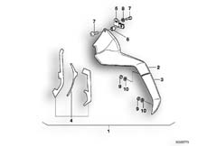 Goto diagram: BMW Classic Motorbike Model K 100 LT 87 (0506,0516)( ECE ), Category 46.48 COMFORT SPOILER MODIFICATION KIT :: Diagram: 46_0277