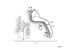 Goto diagram: BMW Classic Motorbike Model K 100 LT 87 (0506,0516)( ECE ), Category 46.48 COMFORT SPOILER MODIFICATION KIT :: Diagram: 46_0278