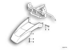 Goto diagram: BMW Classic Motorbike Model R 1100 GS 94 (0404,0409)( USA ), Category 46.62 UPPER MUDGUARD :: Diagram: 46_0282