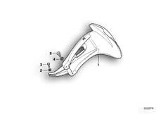 Goto diagram: BMW Classic Motorbike Model R 1100 GS 94 (0404,0409)( USA ), Category 46.62 Mudguard rear :: Diagram: 46_0284