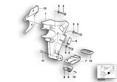 Goto diagram: BMW Classic Motorbike Model R 850 GS 95 (0403)( ECE ), Category 46.71 FOOTPEG PLATE/FRONT FOOTPEG :: Diagram: 46_0291