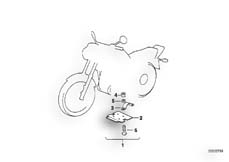 Goto diagram: BMW Classic Motorrad Modell R 80 G/S( ECE ), Category 46.48 Underride protection :: Diagram: 46_0303
