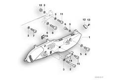 Goto diagram: BMW Classic Motorbike Model R 1150 RT 00 (0419,0499)( USA ), Category 46.71 FOOTPEG PLATE/MOUNTING PARTS :: Diagram: 46_0307