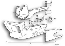 Goto diagram: BMW Classic Motorbike Model K 100 RS 83 (0502,0503,0513)( ECE ), Category 46.48 Set mounting parts :: Diagram: 46_0309