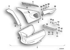 Goto diagram: BMW Classic Motorbike Model K 100 RS 83 (0502,0503,0513)( ECE ), Category 46.40 SET MOUNTING PARTS WITH COVERING PRIMED :: Diagram: 46_0312