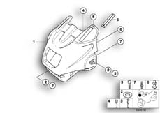 "Goto diagram: BMW Classic Motorbike Model R 1100 RT 96 (0413,0418)( USA ), Category 46.63 Trim panel upper part ""RT"" :: Diagram: 46_0321"