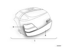 Goto diagram: BMW Classic Motorrad Modell R 1100 R 94 (0402,0407)( USA ), Category 46.54 INSTALLING SET MOULDING ROCKER PANEL :: Diagram: 46_0323
