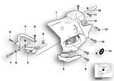 Goto diagram: BMW Classic Motorbike Model R 1150 RT 00 (0419,0499)( USA ), Category 46.63 Fairing side section :: Diagram: 46_0333
