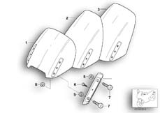 Goto diagram: BMW Classic Motorbike Model R 1150 RT 00 (0419,0499)( USA ), Category 46.63 Windshield, attachment parts :: Diagram: 46_0334
