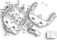 Goto diagram: BMW Classic Motorbike Model R 1150 RT 00 (0419,0499)( USA ), Category 46.63 Windshield adjustment, electr. :: Diagram: 46_0335