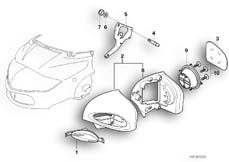 Goto diagram: BMW Classic Motorbike Model R 1150 RT 00 (0419,0499)( USA ), Category 46.63 Mirror :: Diagram: 46_0340