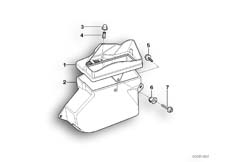 Goto diagram: BMW Classic Motorbike Model R 1150 RT 00 (0419,0499)( USA ), Category 46.63 LEFT ODDMENTS TRAY :: Diagram: 46_0342