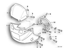 Goto diagram: BMW Classic Motorbike Model F 650 ST 97 (0163,0168)( USA ), Category 46.63 Trim panel, upper part :: Diagram: 46_0354