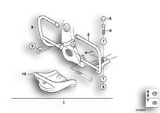 Goto diagram: BMW Classic Motorbike Model F 650 ST 97 (0163,0168)( USA ), Category 46.70 ENGINE PROTECTION BAR SET :: Diagram: 46_0360
