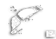 Goto diagram: BMW Classic Motorbike Model K 1200 GT 01 (0548,0558)( USA ), Category 46.62 Rear-wheel cover :: Diagram: 46_0361