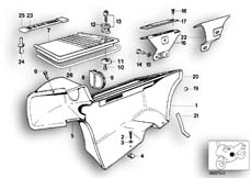 Goto diagram: BMW Classic Motorbike Model R 80 RT( ECE ), Category 46.45 TRIM PANEL SIDE POCKET :: Diagram: 46_0366