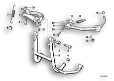 Goto diagram: BMW Classic Motorbike Model K 100 RS 83 (0502,0503,0513)( ECE ), Category 46.10 Centre stand :: Diagram: 46_0367